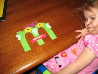 "Go Away Big Green Monster letter ""m"" craft"