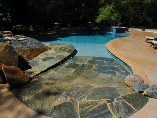 Beach Style Pool Designs Creating a Lake Effect in Modern ...