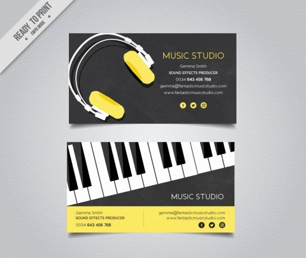 Music Producer Business Cards Fresh 25 Dj Business Card Templates Free Premium Downl Free Business Card Templates Music Business Cards Elegant Business Cards