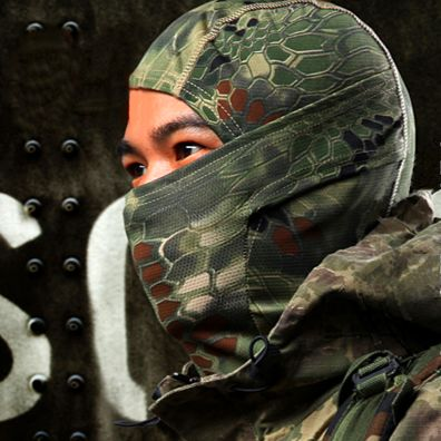 A green tactical face mask