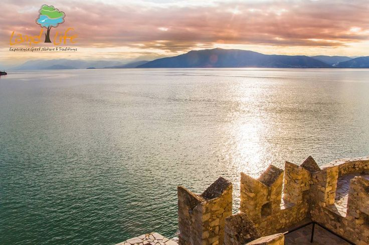 Divine sunset view from the fortress of Bourtzi at Nafplio
