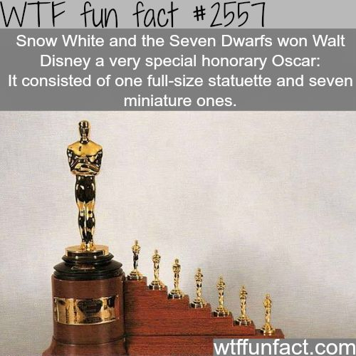 Snow White and the Seven Dwarfs Oscar -WTF funfacts