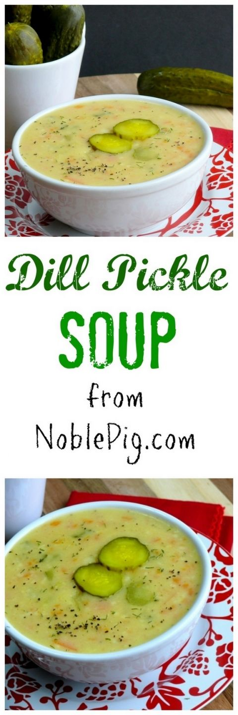 Dill Pickle Soup from Noble Pig you just have to try it