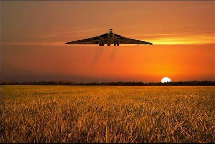 Vulcan bomber over Lincolnshire