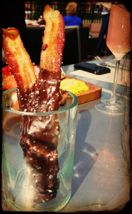 Chocolate covered bacon at Ovinte at the Town Center, Jacksonville, FL