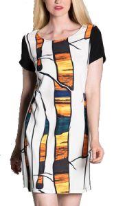 Privilege Dress - Blaze Short sleeve print dress (33111-421)