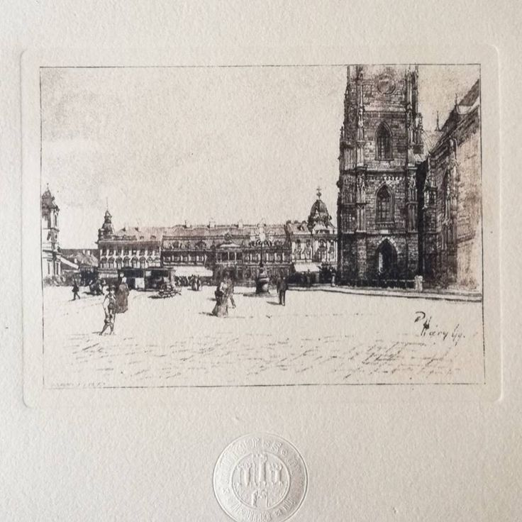 Excited to share the latest addition to my #etsy shop: Central square of Cluj, Transylvania, Romania, 19th c view. Hand-pulled etching on handmade paper, heraldic emboss, vintage art gift, travel http://etsy.me/2BOgNjZ