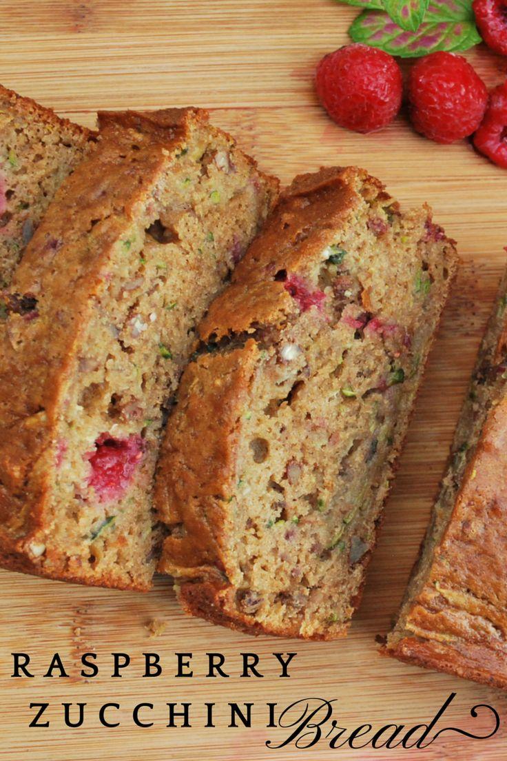 Whole Grain Raspberry Zucchini Loaf