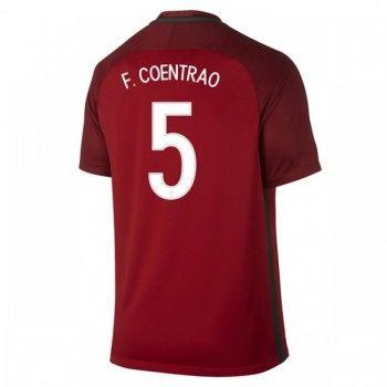 Portugal 2016 Fabio Coentrao 5 Hemmatröja Kortärmad   #Billiga  #fotbollströjor