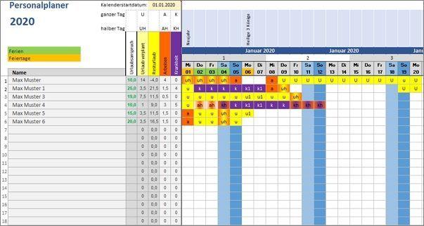 Excel Vorlage Personalplaner Alle Meine Vorlagen De Excel Vorlage Excel Tipps Dienstplan