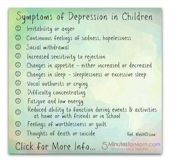 Signs Your Child Might Be Depressed