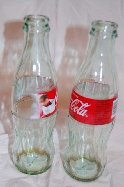 Craftacular World: how to remove coke bottle labels off of glass