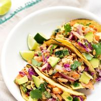 Crunchy Chickpea Tacos from Kim Campbell's The PlantPure Nation Cookbook + A Cookbook Giveaway