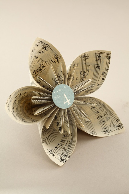 Book Page Origami Kusudama Flower Wedding Ideas Too Perfect Not