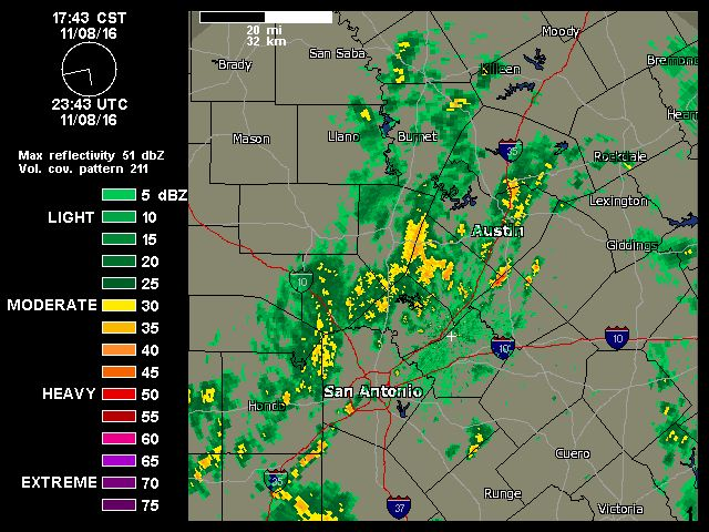 11/08/2016  6pm   Austin-San Antonio Radar   Weather Underground