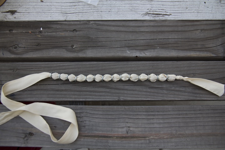 Necklace. use marbles and pony beads