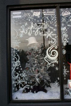 snowflake window painting - Google Search