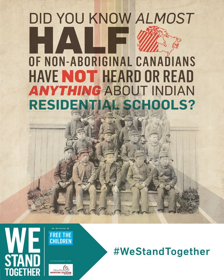 Did you know almost half of non-Aboriginal Canadians living in cities have not heard or read anything about Indian residential schools? #WeStandTogether
