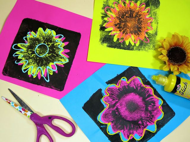 In the Art Room: Andy Warhol Inspired Flower Prints