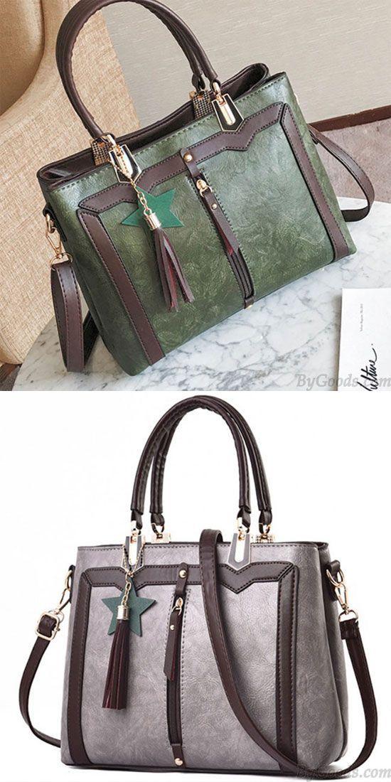 Retro Pu Star Tassel Lady Shoulder Bag Women Handbag For Womenhandbags