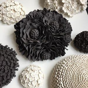 Putting together a collection of pieces to deliver to Ruthin Craft Centre in Wales tomorrow. #roadtrip #ruthincraftcentre #wallpiece #wallart #porcelain #blackclay #ceramics #clay #madeinlondon #exhibition #flora