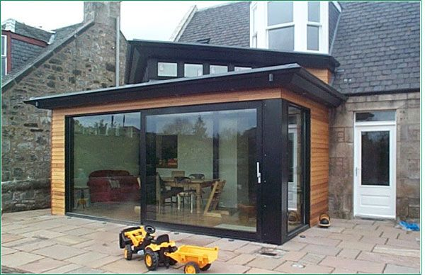 Modern extension to a traditional house in Dunfermline.