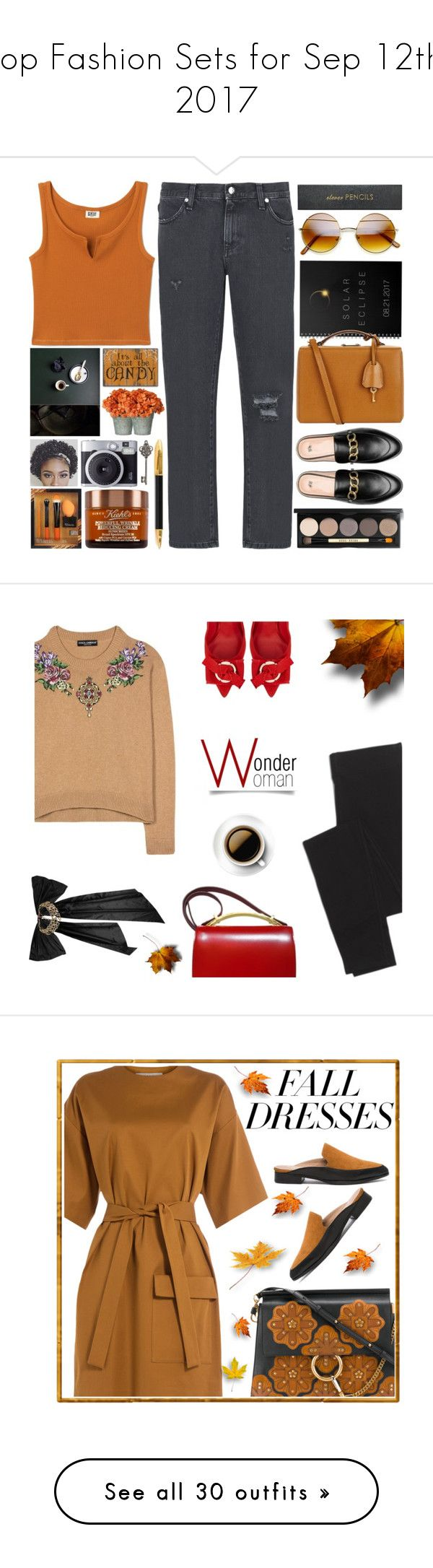 """Top Fashion Sets for Sep 12th, 2017"" by polyvore ❤ liked on Polyvore featuring 8, Mark Cross, Sugar Paper, Sloane Stationery, Graham & Brown, Bobbi Brown Cosmetics, Madewell, Dolce&Gabbana, Salvatore Ferragamo and Oscar de la Renta"