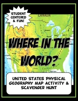 This geography activity is completely student driven, fun and interactive. It can be done with any textbook map or atlas that has the physical geography of the U.S.. A map of the U.S. is included if this resource is not available.   First, students create a physical map of the U.S.