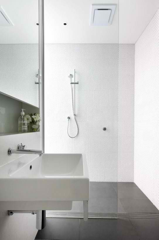 Scandinavian Bathroom Designs White Wall Tiles Grey Floor