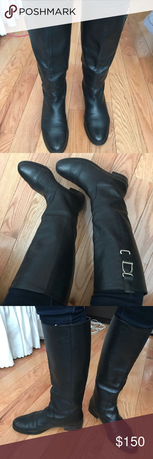Banana Republic tall boots Black Leather boots-Size 7. Have worn them plenty of times but took great care of them. They are extremely comfortable and look great with jeans/dresses, etc. There is a small scuff on the front of the right shoe but not very noticeable. Send me offers!!!! Banana Republic Shoes Heeled Boots