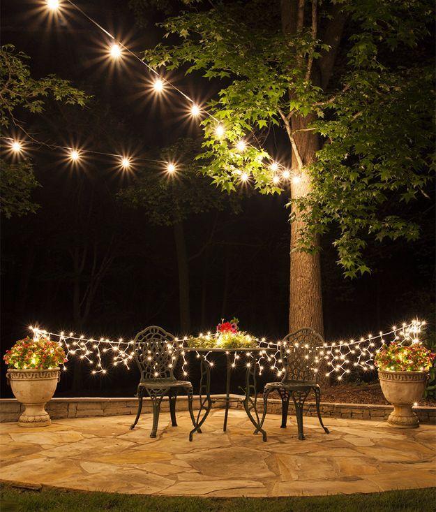 Outdoor lighting ideas diy Mason Jar Diy Outdoor Lighting Ideas Hang Patio Lights Do It Yourself Lighting Ideas For The Pinterest 41 Diy Outdoor Lighting Ideas Diy Craft Pinterest Patio