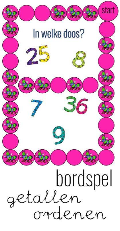 Ik heb een leuk bordspel voor groep 3 gemaakt met als rekendoel: 'Getallen tot en met 50 tussen de goede tientallen zetten'.
