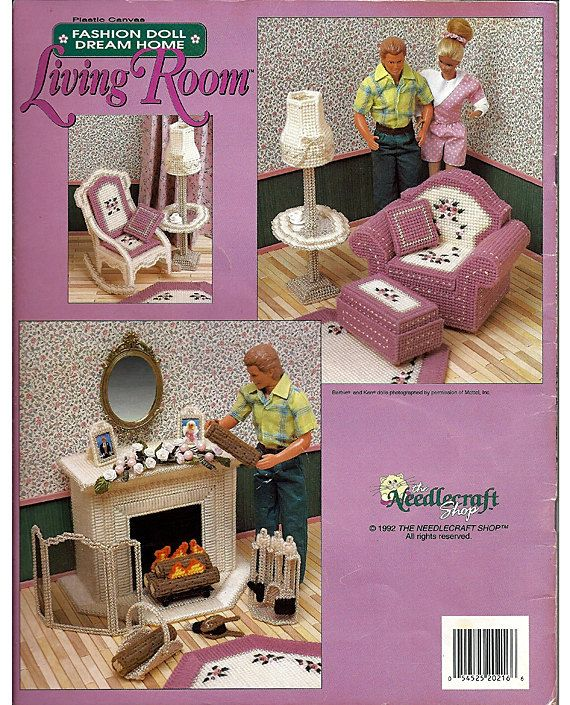 17 Best Images About Plastic Canvas Living Room Furniture On Pinterest Barbie Barbie Dolls