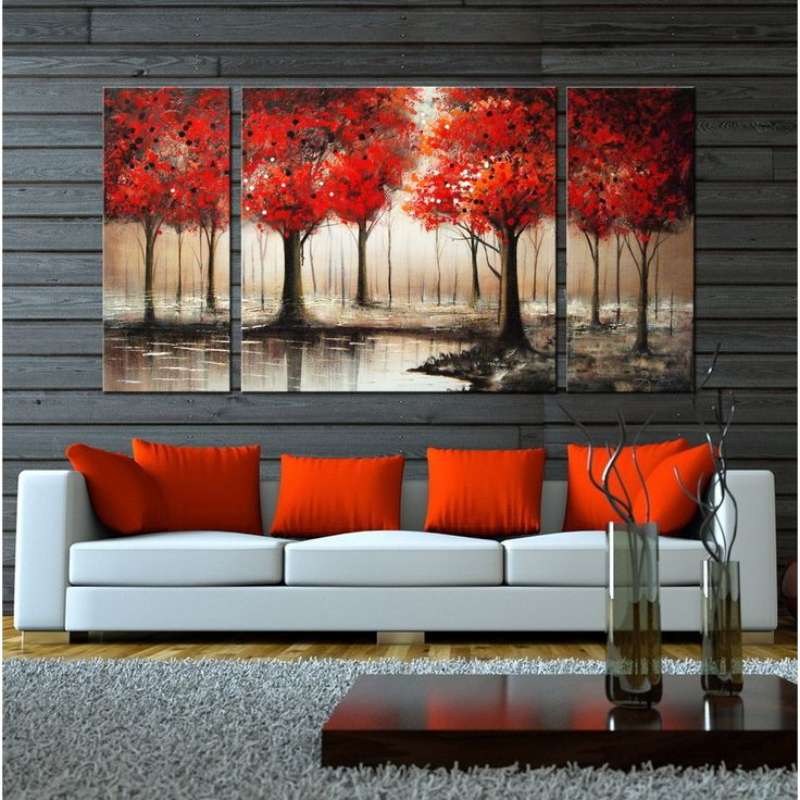 Hand Painted Through The Trees Gallery Wrapped Art Set