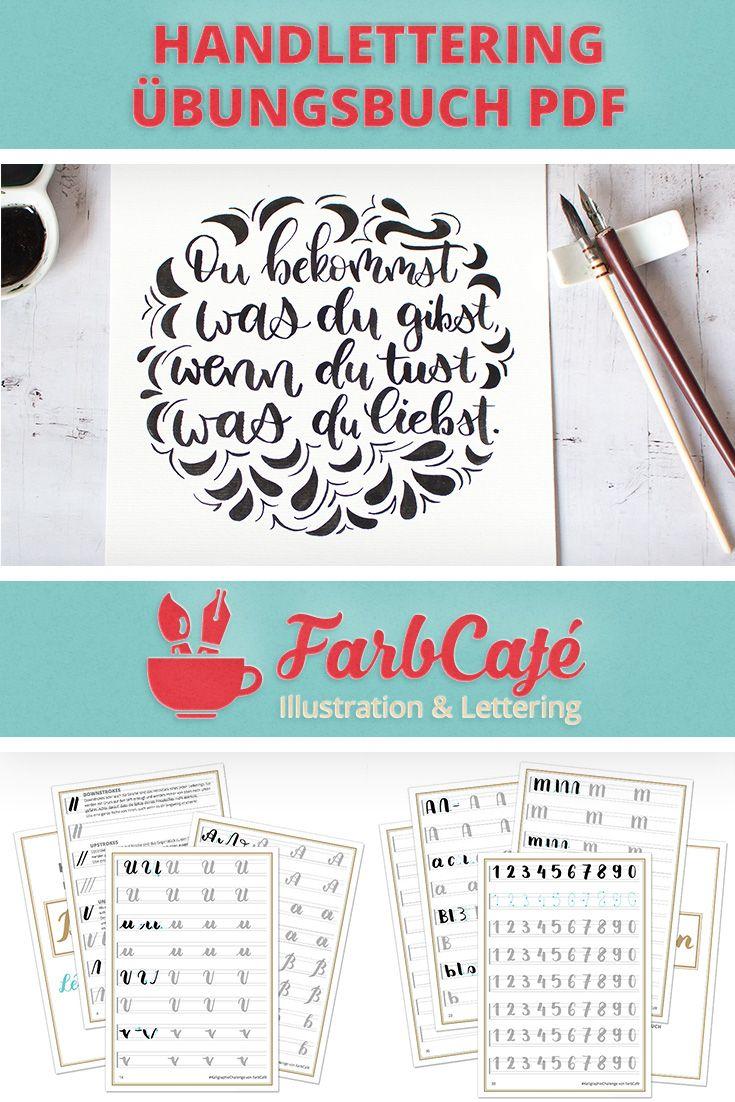 Brushlettering Übungsbuch – FarbCafé