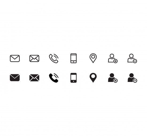 Contact Icon Set Premium Vector Premium Vector Freepik Vector People Icon Phone Telephone Icon Set Icon Phone Icon