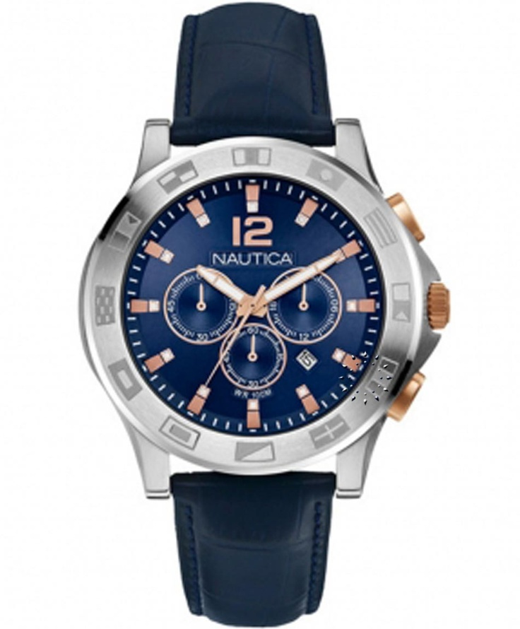 NAUTICA 100M Chronograph Blue Rubber Strap Μοντέλο: A22621 Η τιμή μας: 250€ http://www.oroloi.gr/product_info.php?products_id=33546