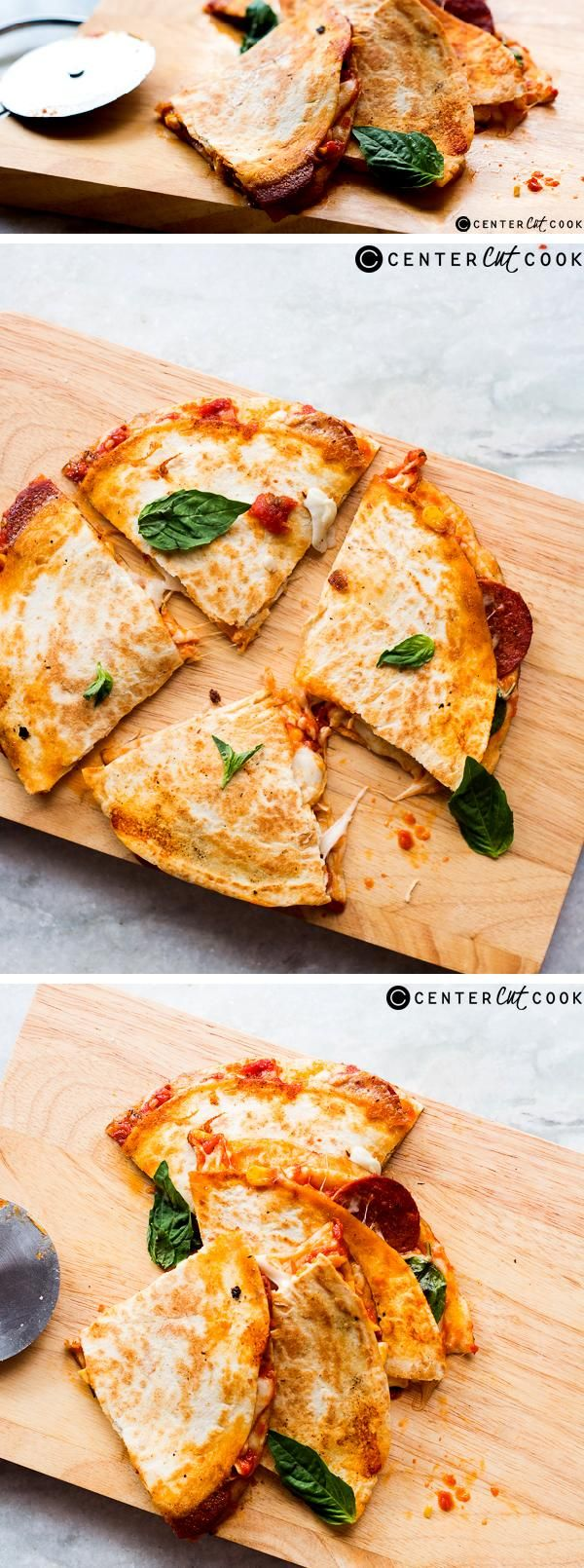 These pepperoni pizza quesadillas are the simplest meal that you can make with just five ingredients!