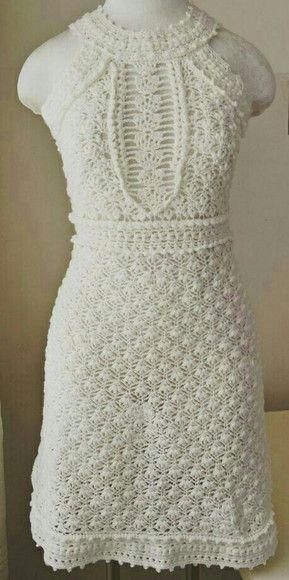 a6b6fa44d4 Compre Vestido Crochê Adulto no Elo7 por R  409