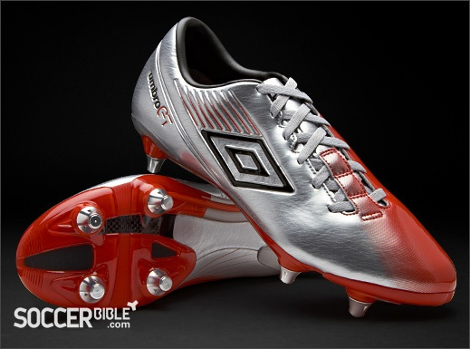 Umbro GT II Pro Football Boots - Silver/Black/Red http://www.soccerbible.com/news/football-boots/archive/2012/01/06/umbro-gt-pro-football-boots-silver-black-red.aspx