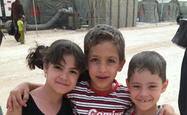 Some children from the Za'atari Refugee Camp, Jordan, where Relief International's team is providing life-saving relief and education and tutoring services for over 5000 school children.     Learn more about our work in Jordan and Lebanon: http://www.ri.org/where_we_work/country.php?ID=28#