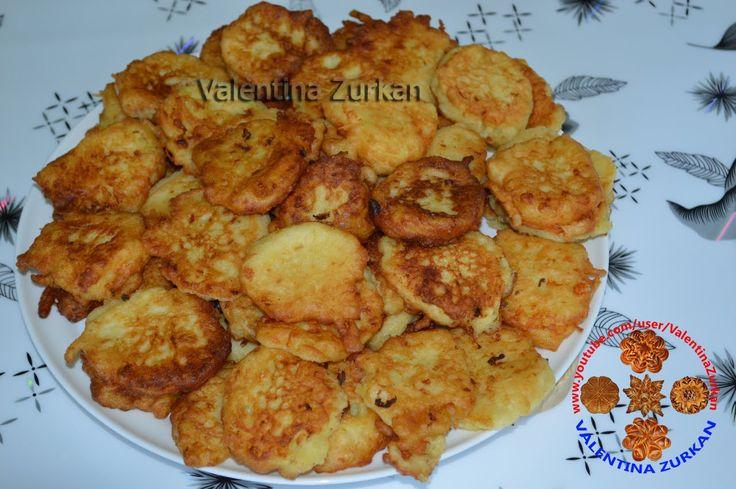 Кабачковые оладьи,Zucchini  Pfannkuchen