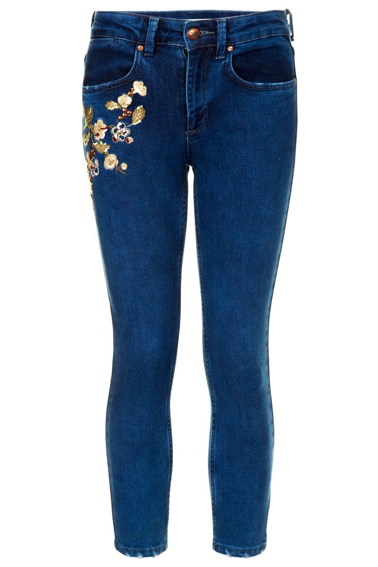 17 Best Images About Embroidered Jeans On Pinterest