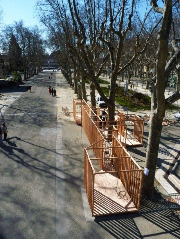 Construction temporaire par le Collectif Paranthèse  Montpellier