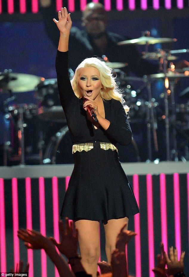 Amazing transformation: Christina Aguilera showed off her slim and trim figure while performing on stage at the 2013 Billboard Music Awards