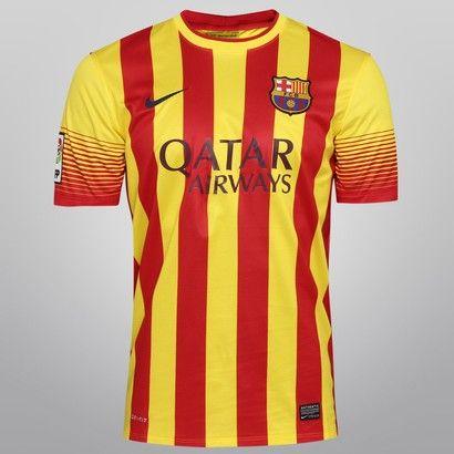 Acabei de visitar o produto Camisa Nike Barcelona Away 13/14 s/nº