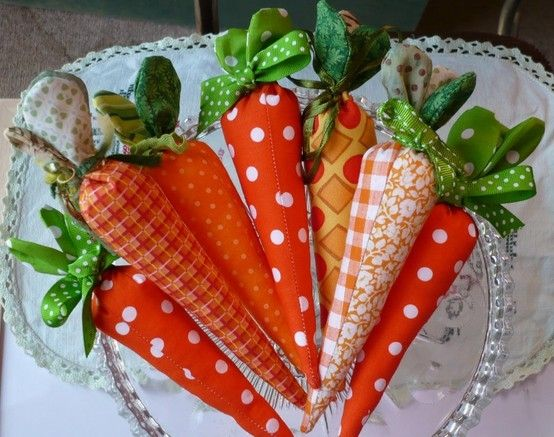 Fabric carrot tutorial and pattern by Tammy Morabito