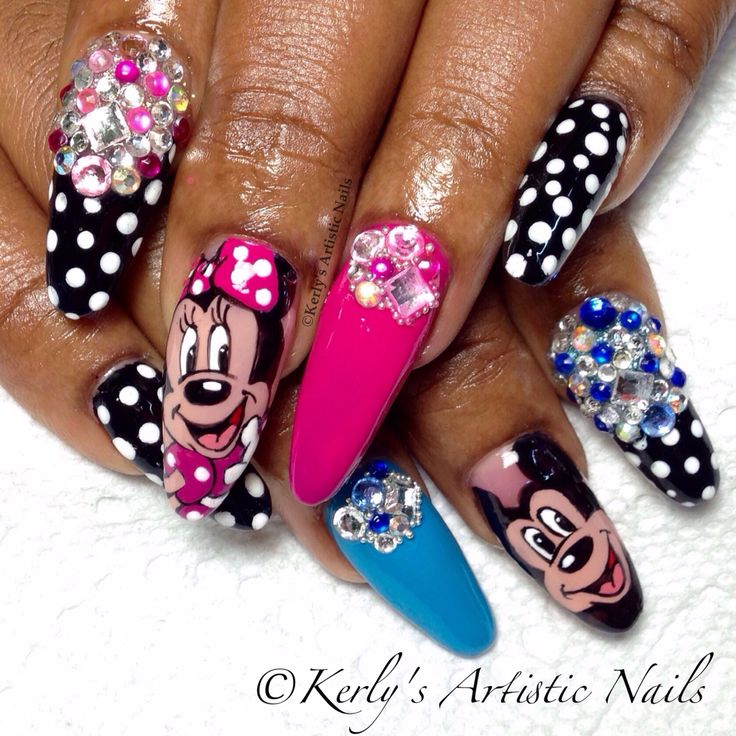 Minnie Mouse Nails: 17 Best Images About Mickey And Minnie Mouse Nail Designs