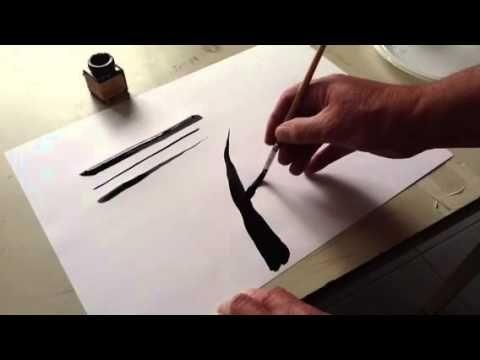 boom tekenen met inkt