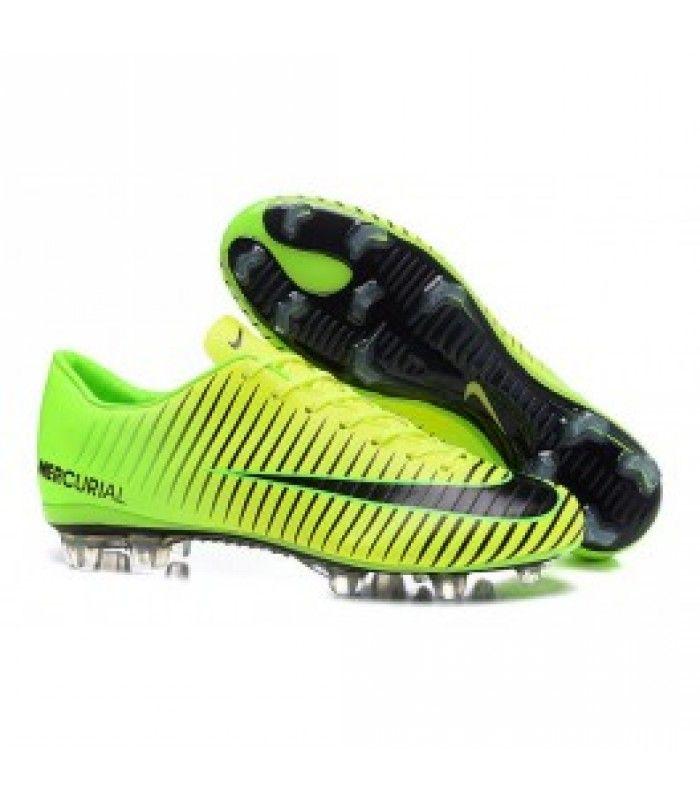 Acheter Chaussures Nike Football Hommes - Nike Mercurial Vapor 11 FG Vert  Noir pas cher en
